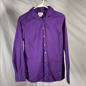 Haberdashery J. Crew Purple Button Up Blouse S